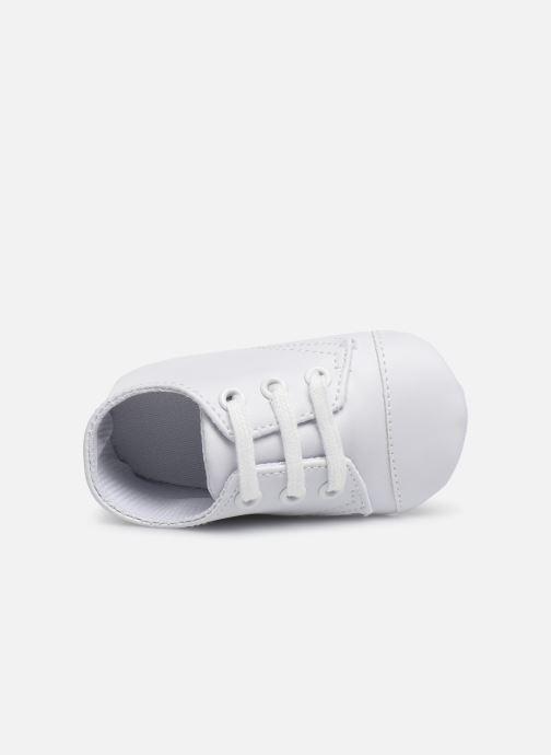 Baskets I Love Shoes chaussures céremonie lacets Blanc vue gauche