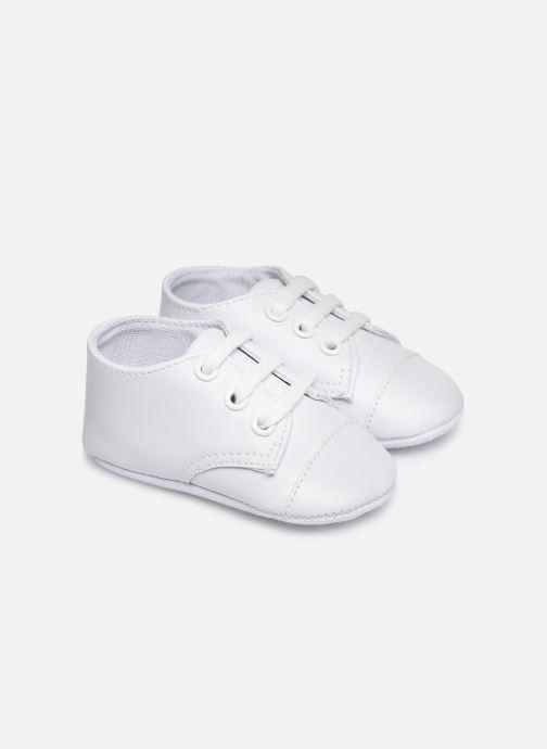 Baskets I Love Shoes chaussures céremonie lacets Blanc vue détail/paire