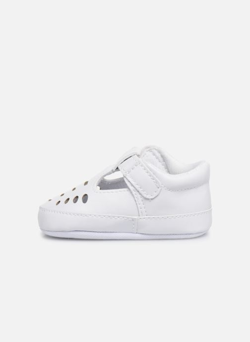 Ballet pumps I Love Shoes Chaussures céremonie Salomé White front view