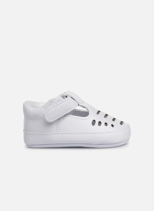 Ballet pumps I Love Shoes Chaussures céremonie Salomé White back view