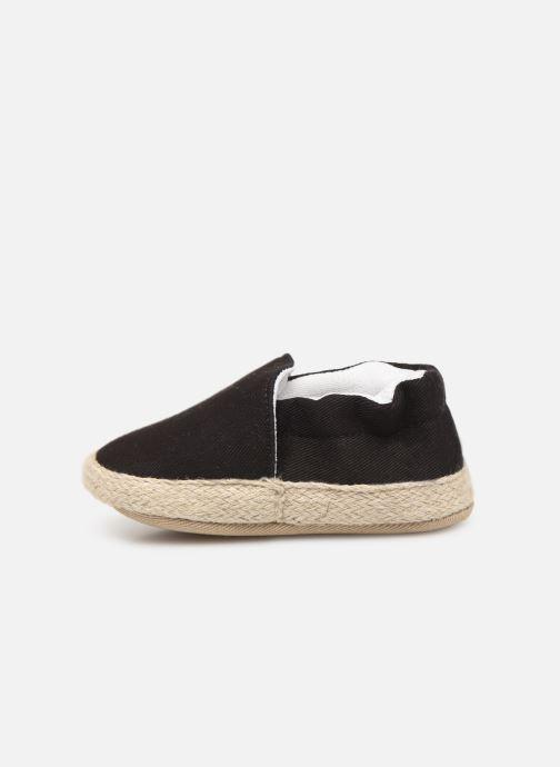 Slippers I Love Shoes Espadrilles elastique Black front view