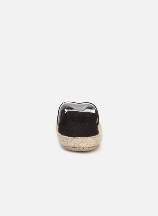 Slippers I Love Shoes Espadrilles elastique Black view from the right