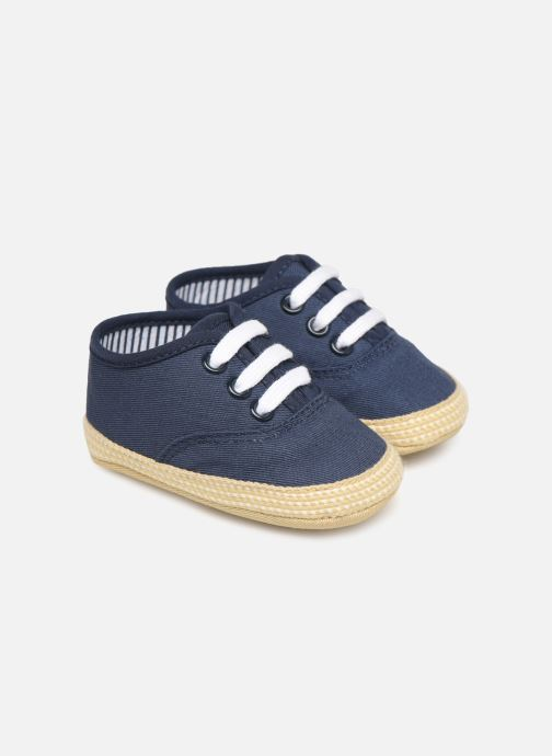 Slippers I Love Shoes Espadrilles lacets Blue detailed view/ Pair view
