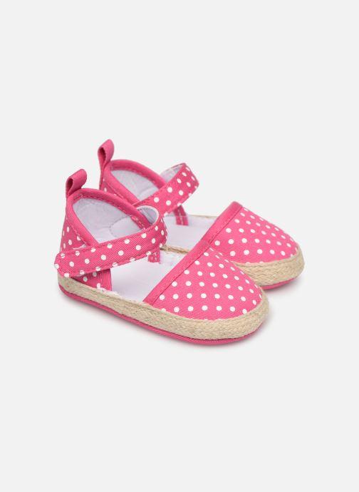 Sandales et nu-pieds I Love Shoes Espadrilles bride Rose vue détail/paire