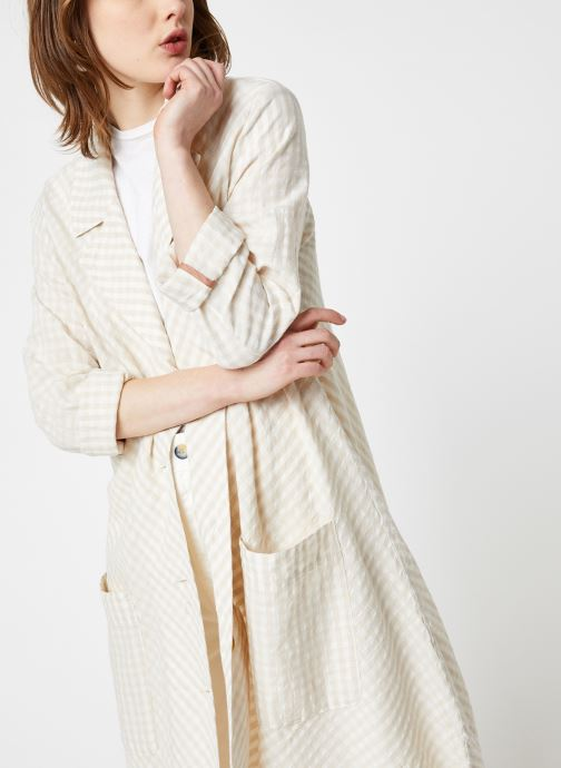 Vêtements Free People LET'S JUST CRUISE DUSTER Beige vue droite