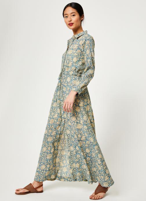 Vêtements Stella Forest ROBE LONGUE IMP CHIARA Bleu vue bas / vue portée sac