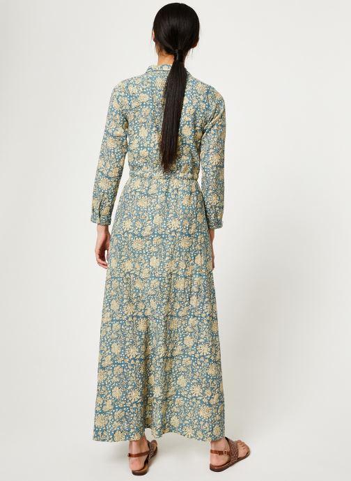 Vêtements Stella Forest ROBE LONGUE IMP CHIARA Bleu vue portées chaussures