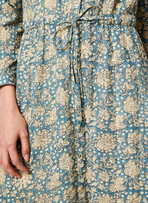 Vêtements Stella Forest ROBE LONGUE IMP CHIARA Bleu vue face
