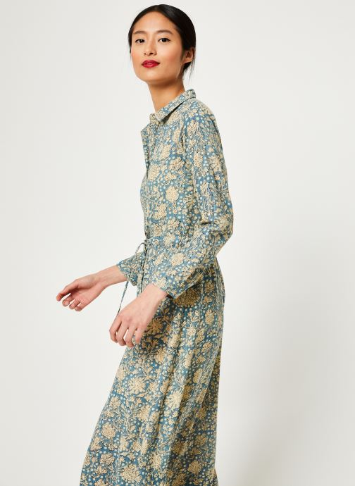 Vêtements Stella Forest ROBE LONGUE IMP CHIARA Bleu vue détail/paire