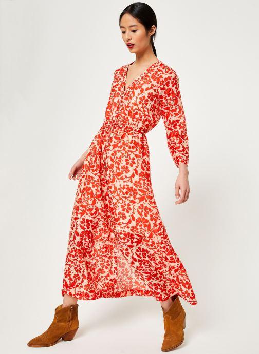 Vêtements Stella Forest ROBE LG BOUTONNEE DVT LILY Rouge vue bas / vue portée sac
