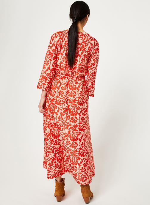 Vêtements Stella Forest ROBE LG BOUTONNEE DVT LILY Rouge vue portées chaussures