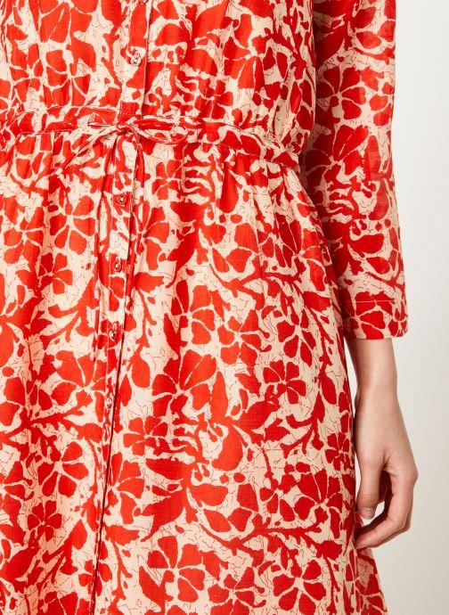 Vêtements Stella Forest ROBE LG BOUTONNEE DVT LILY Rouge vue face