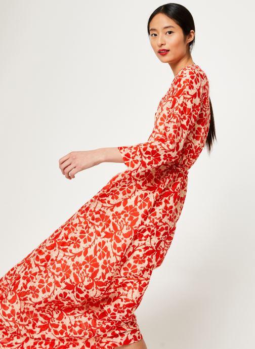 Vêtements Stella Forest ROBE LG BOUTONNEE DVT LILY Rouge vue détail/paire