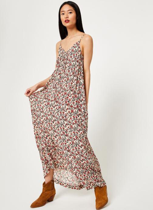 Vêtements Stella Forest ROBE LG BRETELLE IMP HOLLY Beige vue bas / vue portée sac