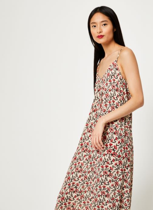 Vêtements Stella Forest ROBE LG BRETELLE IMP HOLLY Beige vue droite