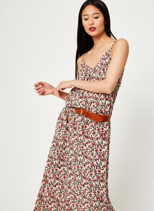 Vêtements Stella Forest ROBE LG BRETELLE IMP HOLLY Beige vue détail/paire