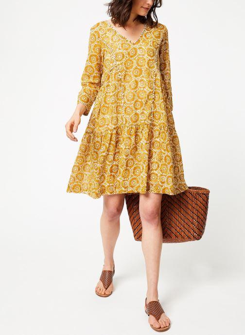 Vêtements Stella Forest ROBE CT PIPING IMP POPPY Jaune vue bas / vue portée sac