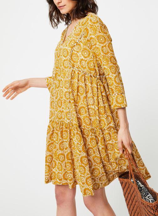 Vêtements Stella Forest ROBE CT PIPING IMP POPPY Jaune vue détail/paire