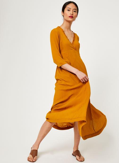 Vêtements Stella Forest ROBE LONGUE BETSY Jaune vue bas / vue portée sac