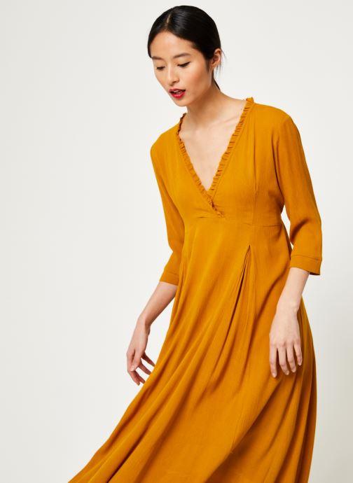 Vêtements Stella Forest ROBE LONGUE BETSY Jaune vue droite