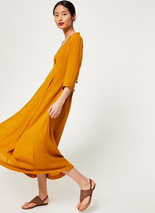 Vêtements Stella Forest ROBE LONGUE BETSY Jaune vue détail/paire