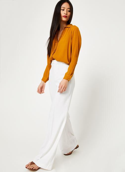 Vêtements Stella Forest CHEMISE ML EVASEE BETSY Jaune vue bas / vue portée sac