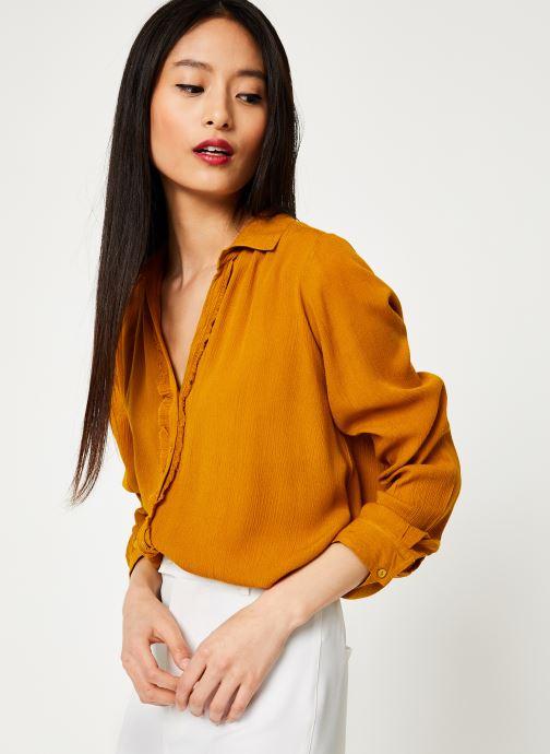 Vêtements Stella Forest CHEMISE ML EVASEE BETSY Jaune vue détail/paire