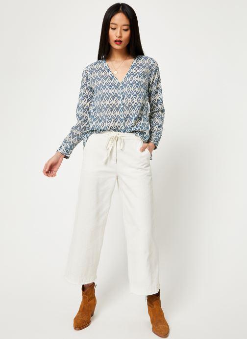 Vêtements Stella Forest CHEMISE EVASEE ML IMP IKAT Bleu vue bas / vue portée sac