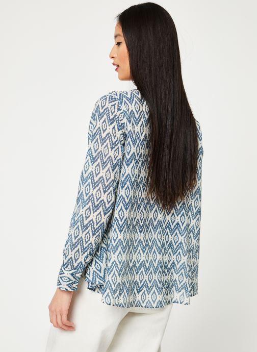 Vêtements Stella Forest CHEMISE EVASEE ML IMP IKAT Bleu vue portées chaussures