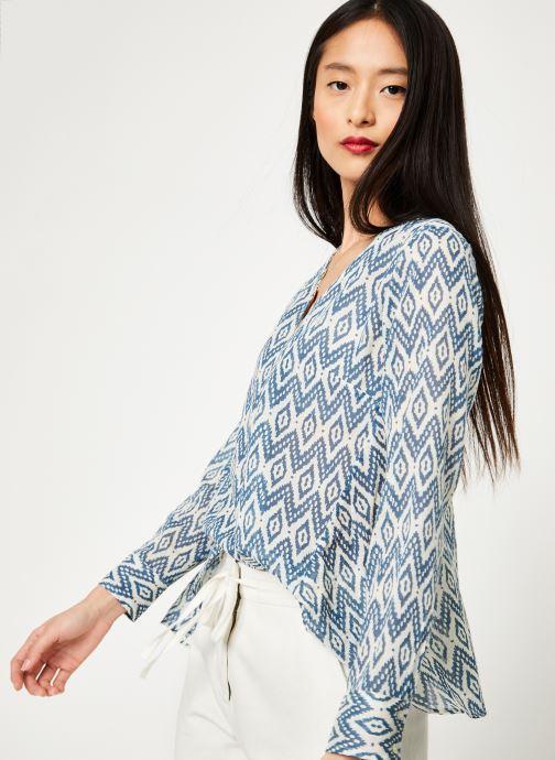 Vêtements Stella Forest CHEMISE EVASEE ML IMP IKAT Bleu vue détail/paire