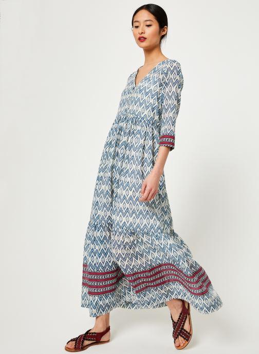 Vêtements Stella Forest ROBE LONGUE IMP IKAT Bleu vue bas / vue portée sac