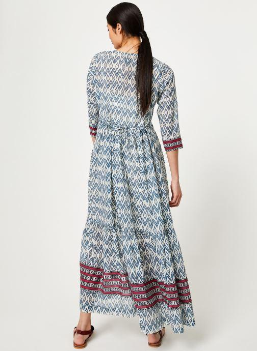 Vêtements Stella Forest ROBE LONGUE IMP IKAT Bleu vue portées chaussures