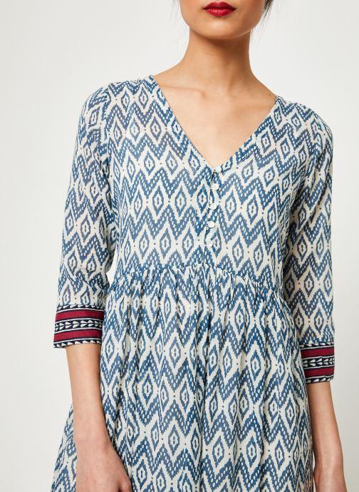 Vêtements Stella Forest ROBE LONGUE IMP IKAT Bleu vue face