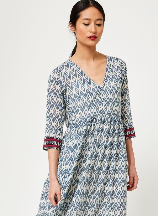 Vêtements Stella Forest ROBE LONGUE IMP IKAT Bleu vue droite