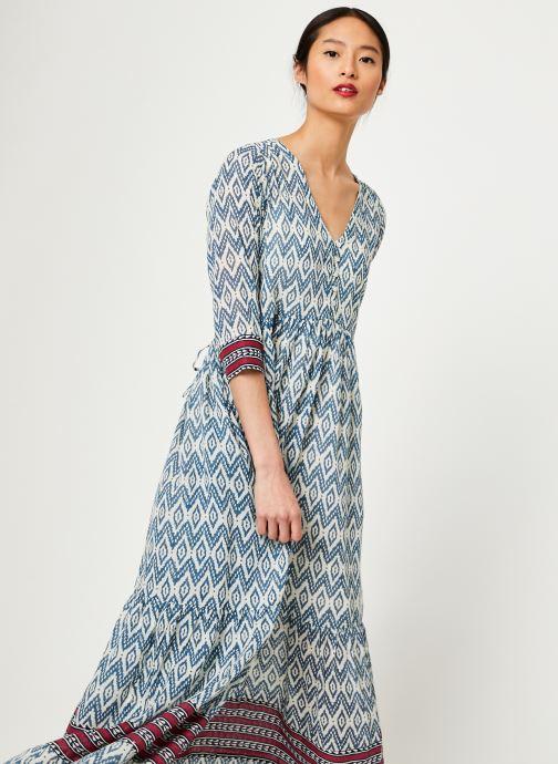 Vêtements Stella Forest ROBE LONGUE IMP IKAT Bleu vue détail/paire