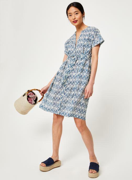 Vêtements Stella Forest ROBE CEINTURE UNI IMP IKAT Bleu vue bas / vue portée sac