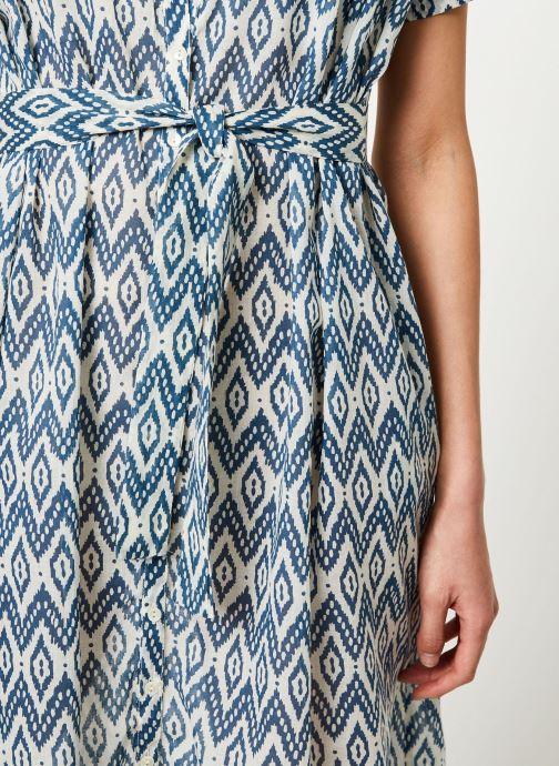 Vêtements Stella Forest ROBE CEINTURE UNI IMP IKAT Bleu vue face