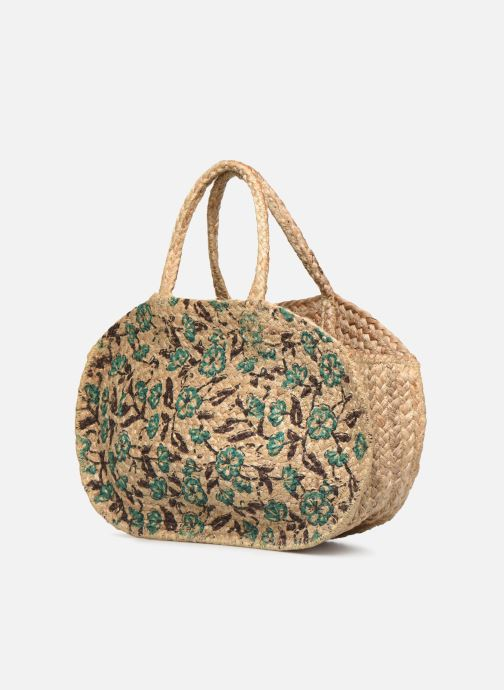 Handtaschen Stella Forest SAC PANIER IMPRIME FLEURS JEAN grün schuhe getragen