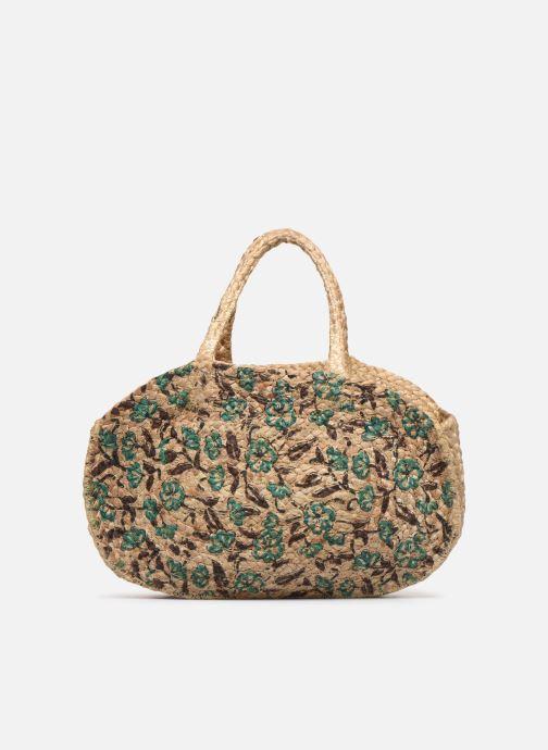 Handtaschen Stella Forest SAC PANIER IMPRIME FLEURS JEAN grün ansicht von vorne