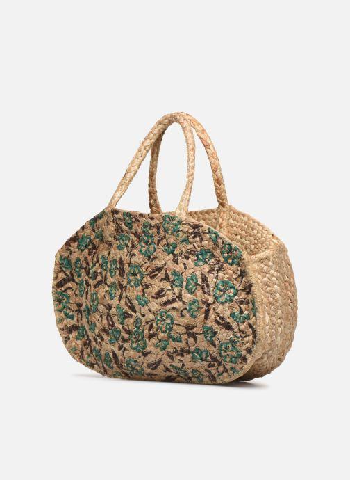 Handtaschen Stella Forest SAC PANIER IMPRIME FLEURS JEAN grün ansicht von rechts