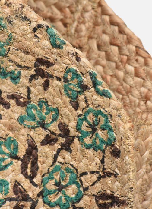 Handtaschen Stella Forest SAC PANIER IMPRIME FLEURS JEAN grün ansicht von links