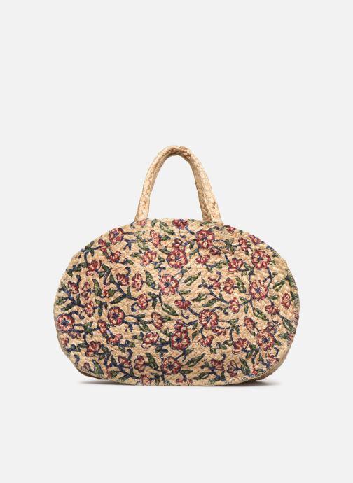 Handtaschen Stella Forest SAC PANIER IMPRIME FLEURS JEAN beige ansicht von vorne