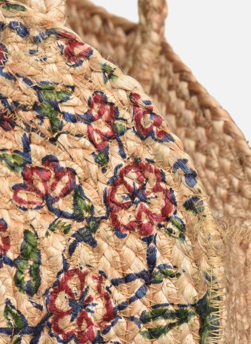 Handtaschen Stella Forest SAC PANIER IMPRIME FLEURS JEAN beige ansicht von links