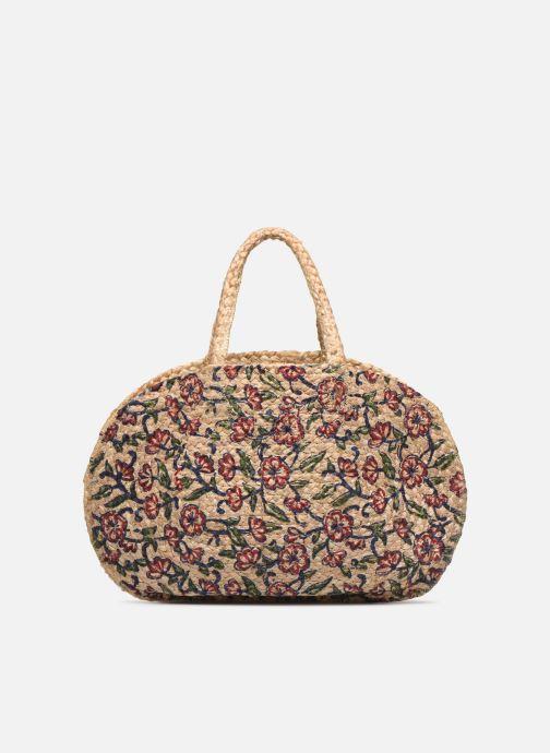 Handtaschen Stella Forest SAC PANIER IMPRIME FLEURS JEAN beige detaillierte ansicht/modell