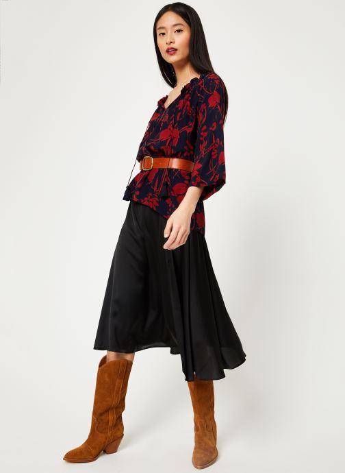 Vêtements Stella Forest TUNIQUE IMP ORCHIDEE Bleu vue bas / vue portée sac