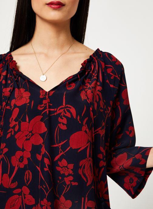 Vêtements Stella Forest TUNIQUE IMP ORCHIDEE Bleu vue face