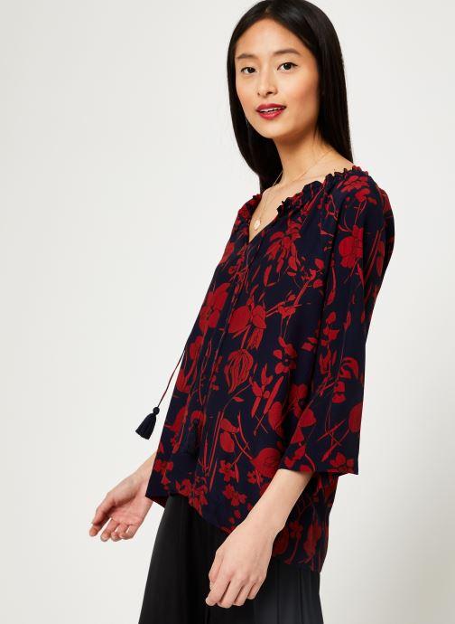 Vêtements Stella Forest TUNIQUE IMP ORCHIDEE Bleu vue droite