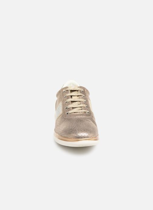 Baskets Geox D Gomesia B Or et bronze vue portées chaussures