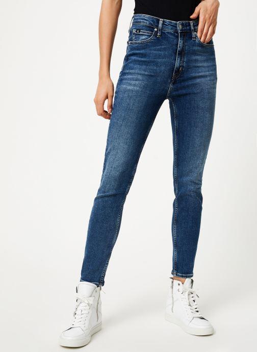 Vêtements Calvin Klein Jeans CKJ 010 HIGH RISE SKINNY ANKLE Bleu vue détail/paire
