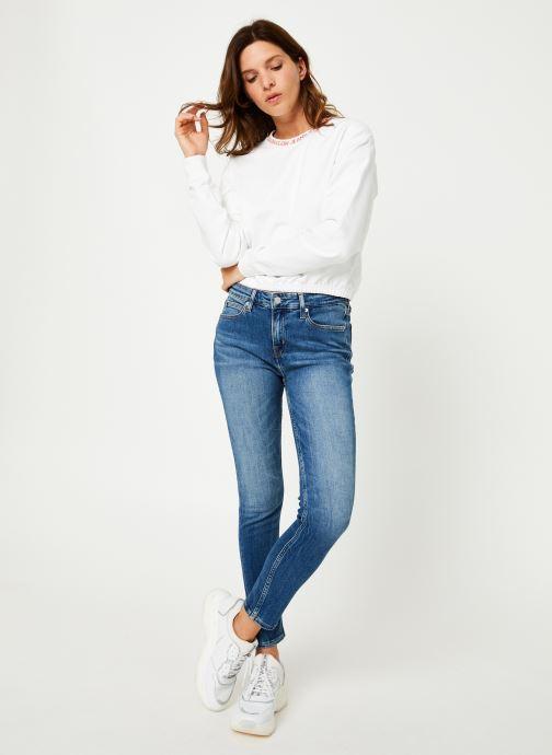 Vêtements Calvin Klein Jeans CKJ 011 MID RISE SKINNY ANKLE Bleu vue bas / vue portée sac